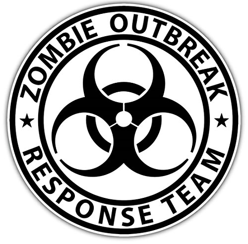 GVGs Shop 1 Pc Blameless Popular Zombie Outbreak Response Team Sticker Sign Car Decal Auto RV Truck Size 4.5