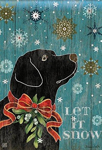 Snow Lab House Flag Labrador Retriever Black Lab Winter Dog 28