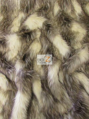 Assorted Faux Fake Fur Animal Short/Long Pile Coat Costume Fabric Sold by The Yard DIY Scarfs Rugs Accessories Fashion (American Palm Civet) ()
