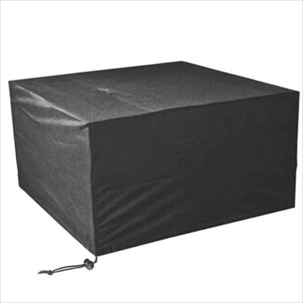 LIANGJUN Housse Protection Salon De Jardin Tissu Oxford 210D Table Machine Pluie Et Neige, 15 Tailles (Couleur : Noir, Taille : 120x120x74cm)