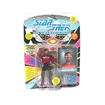 Star Trek the Next Generation TNG Jean-Luc Picard with Collector Card Playmates