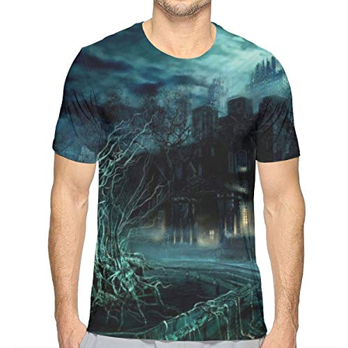 GJEHAGF Diablo City Men's 3D Printed T-Shirt with Round Neck and Short Sleeves for Summer -