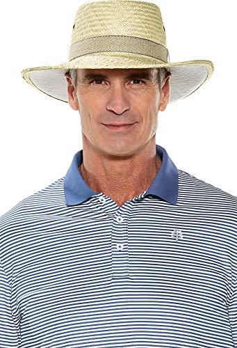 Coolibar UPF 50+ Men's Eagle Golf Gambler - Sun Protective (Large- Natural) ()