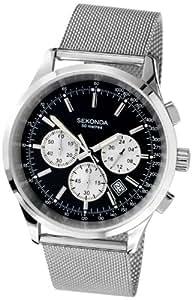 SEKONDA 3415.27 - Reloj de cuarzo para hombres, color negro