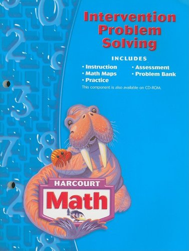 Harcourt School Publishers Math: Intervention Problem Solving Workbook Grade 3