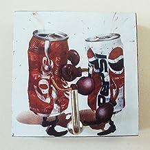 Agility Bathroom Wall Hanger Hat Bag Key Adhesive Wood Hook Vintage Coca Cola & Pepsi Fighting Photo