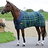 Weatherbeeta Fleece Cooler Standard Neck, Navy/Lime Plaid, 78''