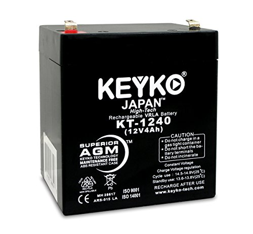 GS Portalac PE412RF1 12V 4Ah Replacement Battery SLA Sealed Lead Acid AGM Rechargeable Genuine KEYKO F1 ()