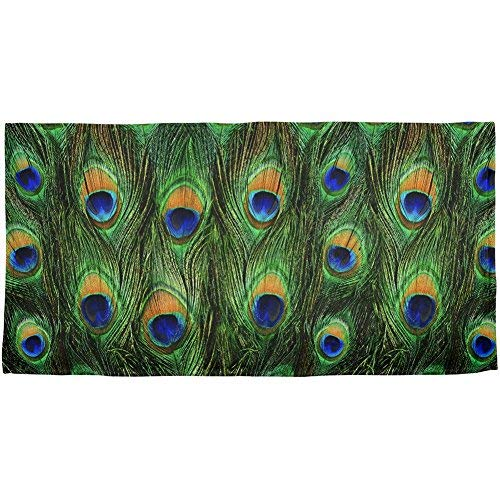 Peacock Feathers All Over Beach Towel [並行輸入品] B07RJMWRKX