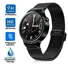 Huawei Watch Screen protector, KuGi ® Ultra-thin 9H Hardness High Quality HD clear Premium Tempered Glass Screen Protector for Huawei Watch (1 pcs)