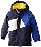 Nautica Little Boys' Colorblocked Snorkel Coat, Sport Navy, Small