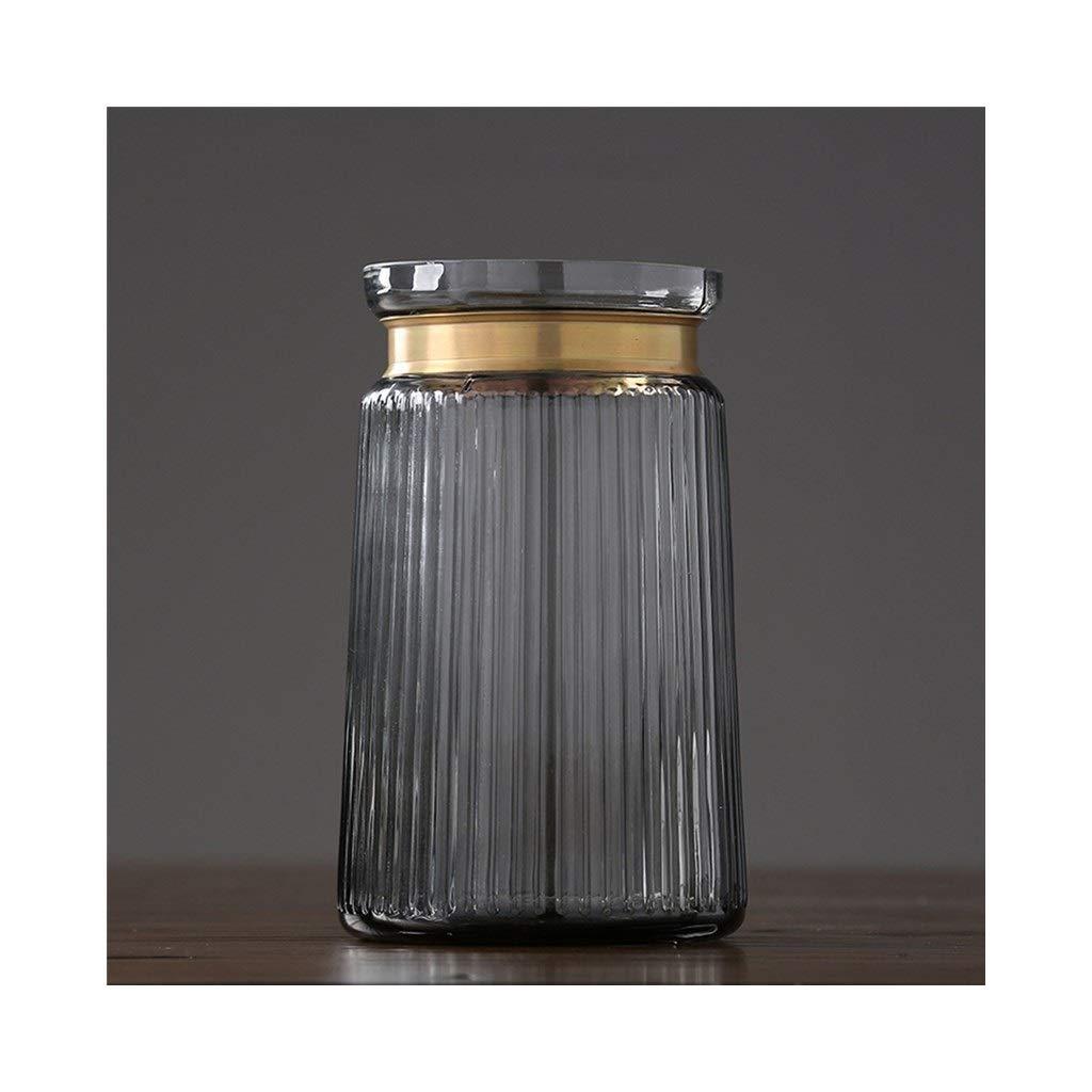 ガラス花瓶現代のミニマリストアメリカンクリエイティブホームデコレーションリビングルームダイニングルームフラワーデコレーション (Size : 14cm*24cm) B07SRC6HMM  14cm*24cm