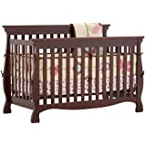 Stork Craft 04587-104 Carrara 4-In-1 Fixed Side Convertible Crib (Cherry)