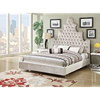 ACME Furniture 25027EK Honesty Bed, Eastern King, Sand Plush
