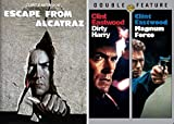 Escaping Prison and Fighting Crime in San Fransisco: Clint Eastwood Triple Feature- Escape From Alcatraz & Dirty Harry & Magnum Force (3 DVD Bundle)