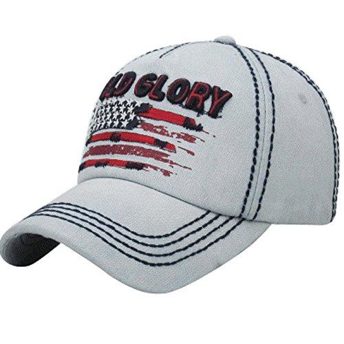 - KB Old Glory American Flag USA Patriotic July 4th Star Baseball Hat Cap (Light Blue)