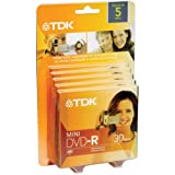 TDK 8 cm DVD 5 pack for Camcorders