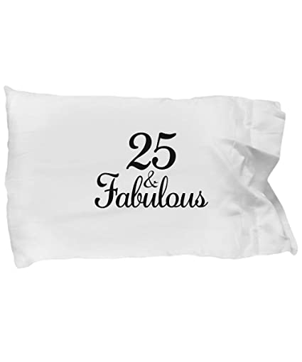 Image Unavailable Not Available For Color DesiDD 25th Birthday Pillow Case