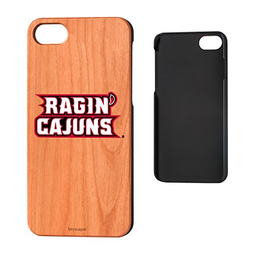 Louisiana Lafayette Ragin' Cajuns Cherry Wood iPhone 7 / iPhone 8 Case (Lafayette Cherry)