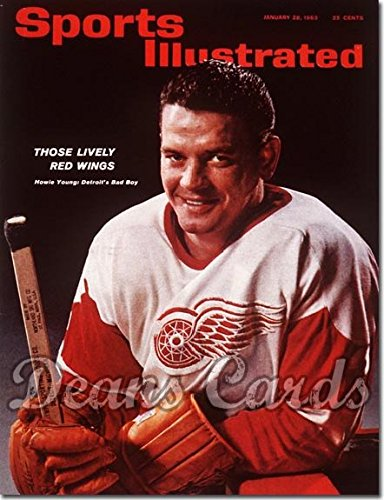With Label January 28 1963 - Howie Young Detroit Red Wings (Magazine/Publication) (Has Address Label on Front) Dean's Cards 5 - EX ()