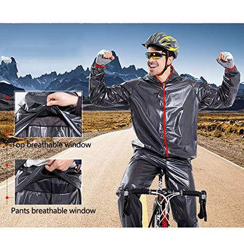 Lwy Outdoor et Cycling respirant Imperméable Tissu Ensemble Sports coupe vent raincoat confortable Adulte Adventure écologique et Black Léger Transparent pq1vrwp6f