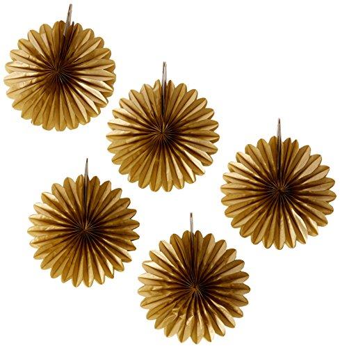 mini gold hanging fans 5 ct