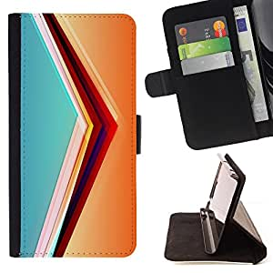 Jordan Colourful Shop - svet cvet linii ugol obem For Sony Xperia Z1 L39 - < Leather Case Absorci????n cubierta de la caja de alto impacto > -