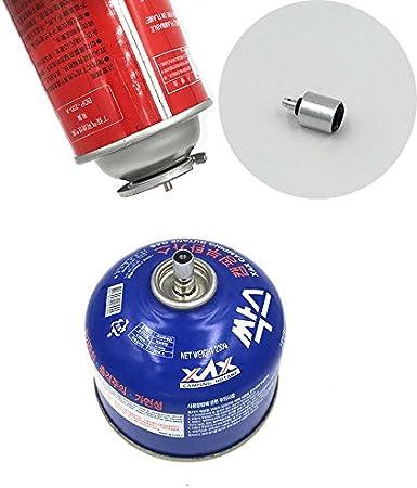 Forfar Gas adaptador Válvula plana cilindro del enganche de accesorios Acampar al aire libre de propano de recarga rápida