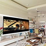 """ShowMaven 84"""" 16:9 HD Adjustable Tripod Projector Projection Screen Portable Pull Up Foldable Stand (White Tripod 84 Inch 16:9)"""