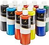Chroma Chromacryl Premium Acrylic Paint - Pints - Set of 12 - Assorted Colors