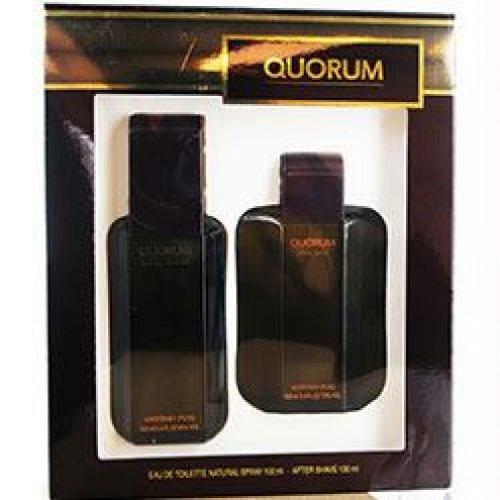 QUORUM by Antonio Puig 3.4 oz EDT Spray 2 Piece NEW Gift Set Box for Men