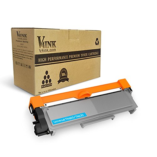 V4INK 1-Pack New Compatible Brother TN630 TN660 Toner Cartridge Black for Brother DCP-L2520DW DCP-L2540DW HL-L2300D HL-L2320D HL-L2340DW HL-L2360DW HL-L2380DW MFC-L2700DW MFC-L2720DW MFC-L2740DW
