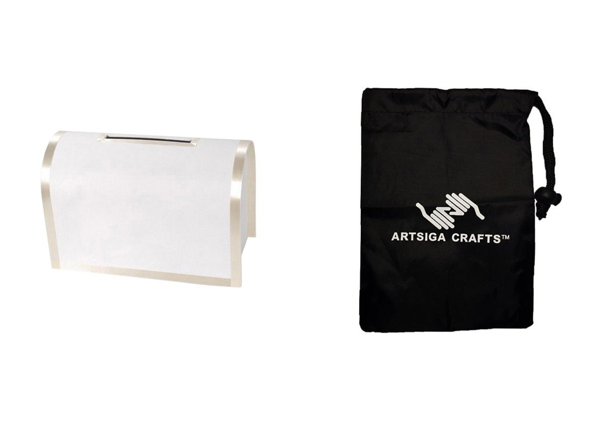 Darice ウェディングカードボックス Victoria Lynn ウェディング メールボックス アイボリー 16 x 8 x 10 1/8 (1パック) VL0038AIV バンドル Artsiga Crafts スモールバッグ1つ付き B075MNVRGS