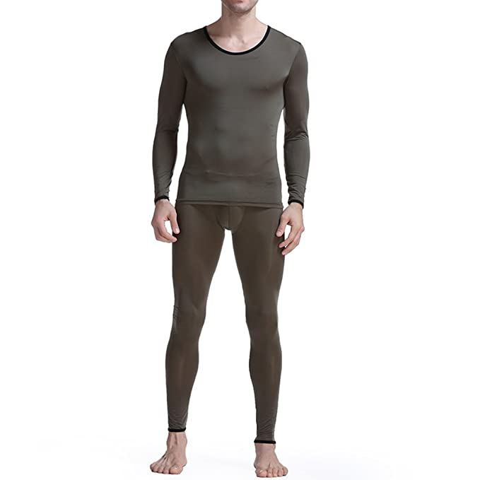 Feicuan Hombre Elastic Thin Tops and Long Johns Ropa interior Sets -L03