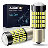 1156 Reverse Light LED Bulbs, AUXITO 1400 Lumens Super Bright Wedge 4014 102-SMD LED Chipsets 1141 1073 7506 LED Bulbs with Projector for Backup Reverse Lights, 6000K Xenon White