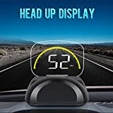 DishyKooker C700S LED Car Head-up Display OBD2 Fault Elimination Speed/Water Temperature Voltage Alarm
