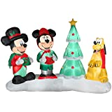 Disney 7.5 Ft Mickey & Minnie Mouse w/ Pluto Christmas Carolers LightShow Airblown Inflatable - Plays 4 Songs w/ Remote