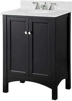 Foremost Trea2418 Haven 24 Inch Width X 18 25 Inch Depth X 34 Inch Height Vanity Cabinet Espresso Bathroom Vanities Amazon Com