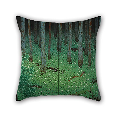 Loveloveu 20 X 20 Inches / 50 By 50 Cm Oil Painting Katayama Bokuyo - Mori (Forest) Cushion Covers ,2 Sides Ornament And Gift To Kids Room,wedding,study Room,girls,wife,chair