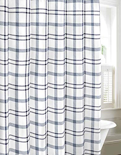 Eddie Bauer Cordova Shower Curtain, 72x72, Lt-Pastel Blue ()