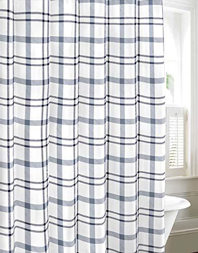 Gingham Shower Curtain (Eddie Bauer Cordova Shower Curtain, 72x72, Lt-Pastel)