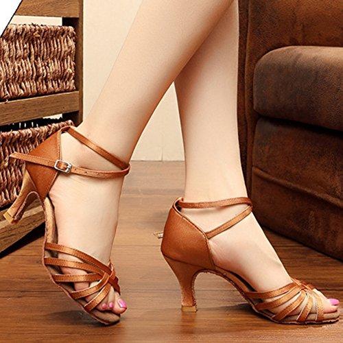 de Baile Wealsex de Baile Sal Suave Zapatos Latino Baile Fondo Mujer de Zapatos tPOqw6P