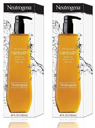 Neutrogena Rainbath Refreshing Shower and Bath Gel, 40 Oz Refill Bottles (Pack of 2) ()
