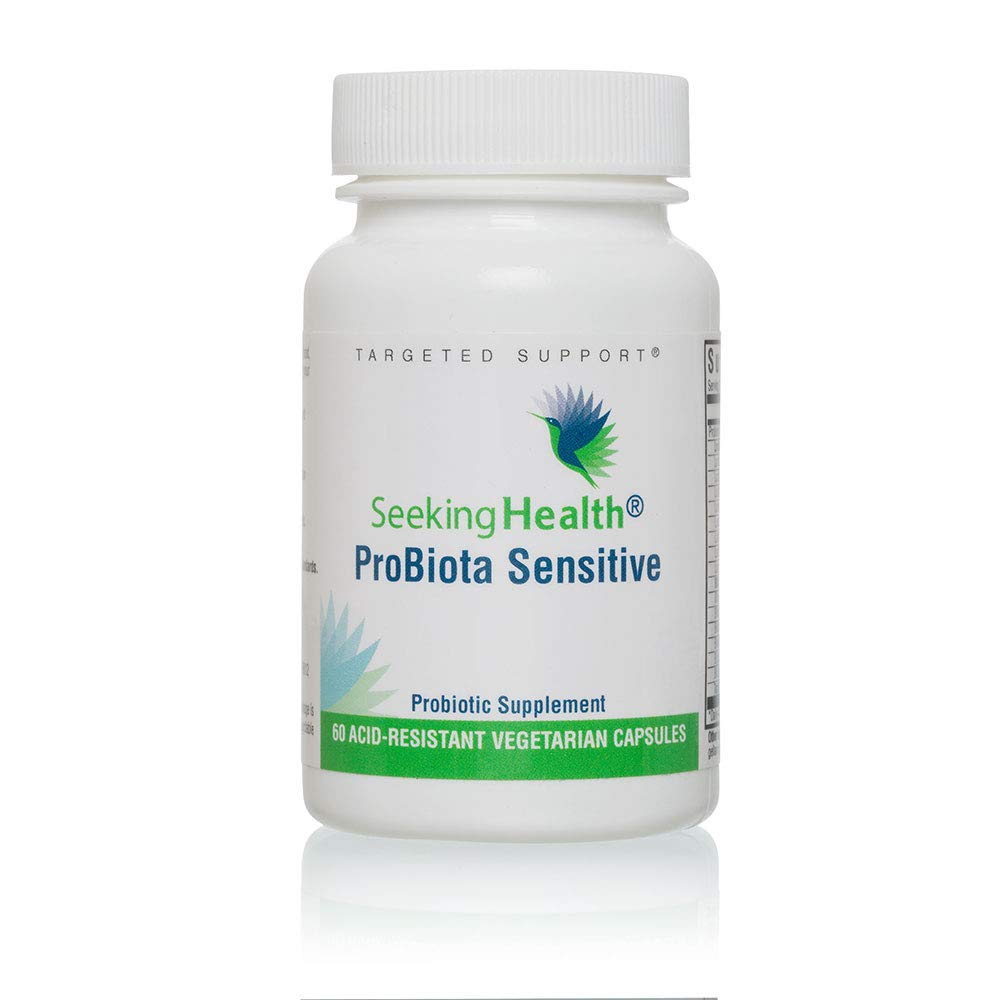 ProBiota Sensitive | 60 Probiotic Capsules | Seeking Health | Multi-Strain Probiotics | Potent Dairy Free Probiotics | Free of Common Allergens | Vegan Probiotic
