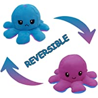 Reversible Octopus Plush Toy Adorable Double-Sided Flip Octopus Doll, Happy and Angry Octopus Stuffed Animals Doll…