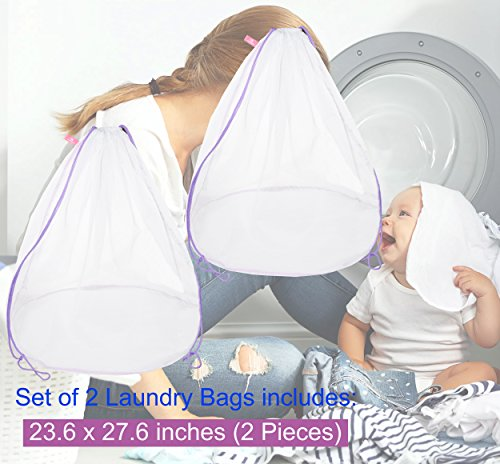 - Ultra Thick Freegrace Large Laundry Bag - Ultra Thick, Extra Durable and Breathable Polyester-Fibre Mesh Material - Perfect for Household Use, College Dorms, Travels 23.6/'/' x 27.6/'/' 1 Pack, 23.6 x 27.6
