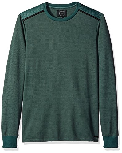 GUESS Men's Mason Jacquared Knit, Foxy Green Multi, L