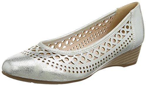 Plateado Silver Zapatos Mujer Metallic Lotus Toff RSqAUS7