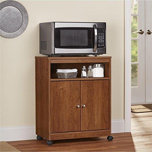 Ameriwood Home Landry Microwave Cart, Brown Oak by Ameriwood Home (Image #7)