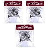 HALLOWEEN SPIDER WEBS & WEBBING + Spiders - 3 Pack